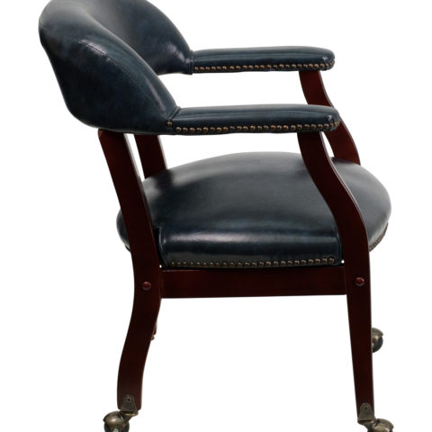 Legends Navy Conference Chair with Casters-15549