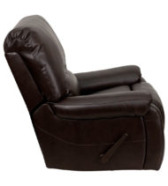 OverStuffed Brown Leather Lever Rocker Recliner -16992