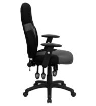 High Back Ergonomic Black and Grey Mesh Task Chair with Adjustable Arms -14956