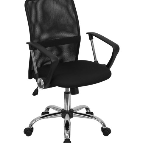Performance Series Modern Black Mesh Manager Chair-0