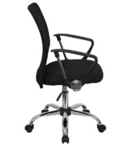 Performance Series Modern Black Mesh Manager Chair-16101