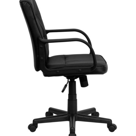 Performance Series Plush Black Leather Managers Chair-16077