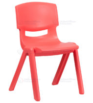Red Plastic Stackable School Chair with 15.5'' Seat Height -0