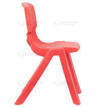 Red Plastic Stackable School Chair with 18'' Seat Height -18406