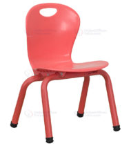 Red Plastic Stackable School Chair with 11.75'' Seat Height -0