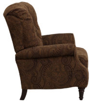 Traditional Tobacco Fabric Tufted Hi-Leg Recliner -14670