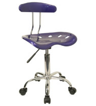 Trendspace Deep Blue Studio Desk Chair-0