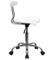 Trendspace White Studio Desk Chair-16854