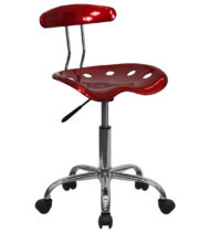 Trendspace Wine Red Studio Desk Chair-0