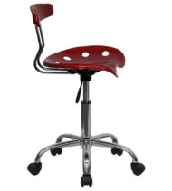 Trendspace Wine Red Studio Desk Chair-16858