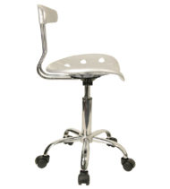 Trendspace Silver Studio Desk Chair-18672