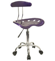 Trendspace Purple Studio Desk Chair-0
