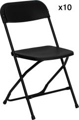 10 Pack - HERCULES Series Black Folding Chair-0