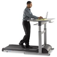 TR1200-DT7 Treadmill Desk W/Electronic Height Adjustable Desk-0