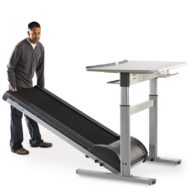 TR1200-DT7 Treadmill Desk W/Electronic Height Adjustable Desk-21765