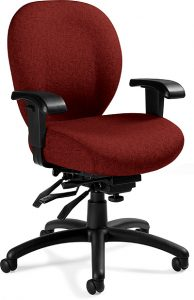 Global Total Office 2781-3 Mallorca Medium Back Multi-Tilter - Dark Red/Burgundy