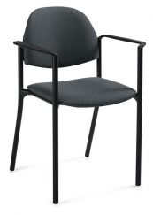Global Total Office 2171 Comet Stacking Armchair - Black