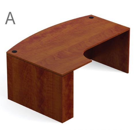 SL7148BCL OTG Dark Cherry Laminate U-Shaped set with Bow Front 71 inch with left corner extension
