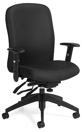 Global Total Office 5450-3 Truform TS Heavy Duty High Back Multi Tilter - Black