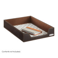 Leather Look Single Letter Tray