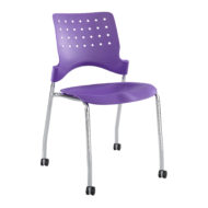 Reve Armless Stackable Guest Chair with Casters