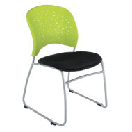 Reve Armless Stackable Guest Chair with Sled Base