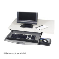 Ergo-Comfort Premium Underdesk Keyboard Drawer with Slide-Out Mouse Surface