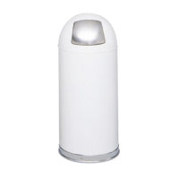 15 Gallon Push Door Dome Top Receptacle