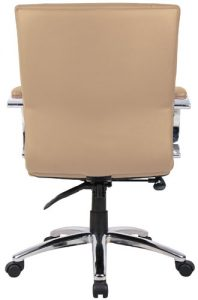 Aaria Collection Elektra Mid-Back Chair/ Chrome Base / Tan Upholstery-23795