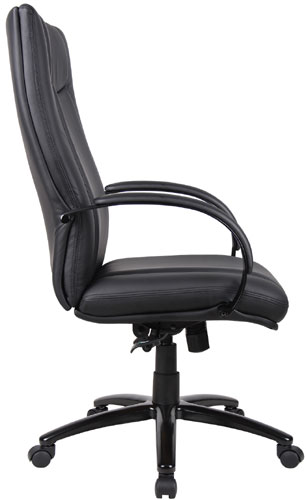 Aaria Collection Elektra High Back Chair/ Black Base / Black Upholstery-23811