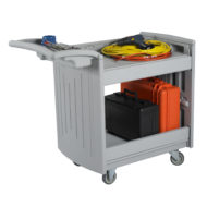 Molded Utility Cart - 2 Shelves