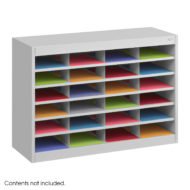 E-Z Stor Steel Literature Organizer, 24 Letter Size Compartments