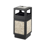 38 Gallon Canmeleon Aggregate Panel Ash Urn / Side Open