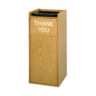 36 Gallon Wood Food Court Receptacle