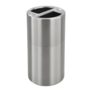 Dual Recycling Receptacle, 9931 Stainless Steel