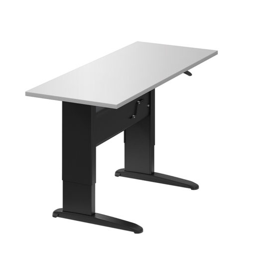 "Sit-to-Stand Manual Height Adjustable Rectangular Table 56""x30"""