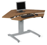 Global Sit to Stand Electronic Corner Desk