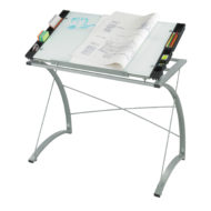 Xpressions Glass Top Drafting Table