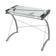 Xpressions Glass Top Drafting Table Flat