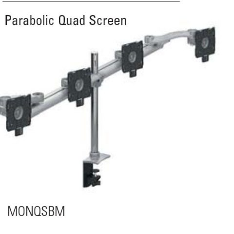 Parabolic Quad Screen Beam Mount Monitor Arm