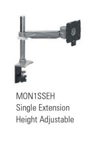 Single Screen, Single Extension Monitor Arm