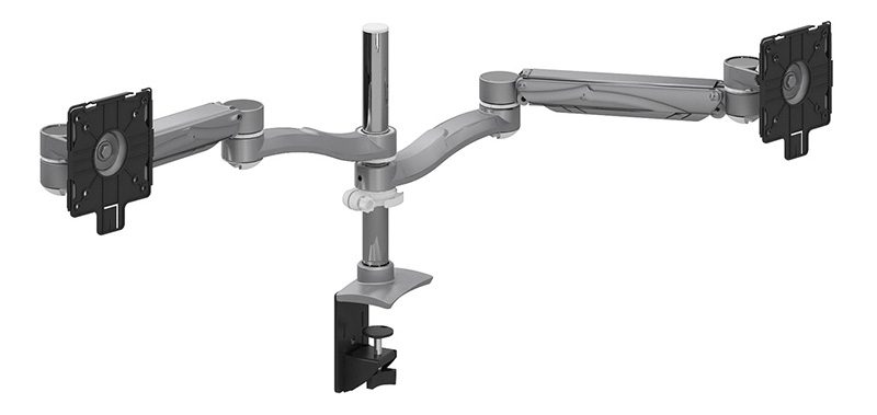 Dual Extension Height Adjustable Monitor Arm