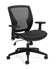 Offices to Go 11860B Black Mesh Back Tilter Chair -0