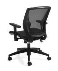 Offices to Go 11860B Black Mesh Back Tilter Chair -24305