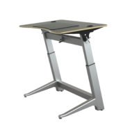 Focal Upright Black Matte Finish Locus Standing Height Desk