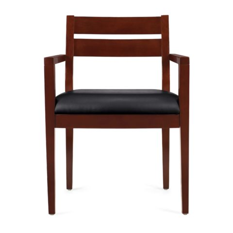 Offices to Go 11820_CX Cordovan Wood Accented Guest Chair