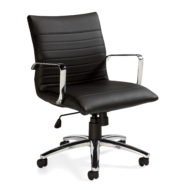 Offices To Go OTG11734B Mid Back Luxhide Executive Chair